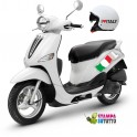 Kit adesivi scooter + casco BANDIERA ITALIANA