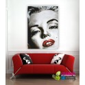 Quadro intelaiato TELA PITTORICA/ECOPELLE MARILYN MONROE