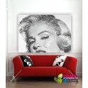 Quadro intelaiato TELA PITTORICA/ECOPELLE MARILYN MONROE 2
